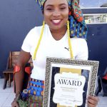 Karabo Nguyuza with her Award